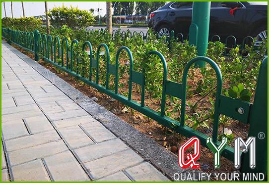 Green belt guardrail