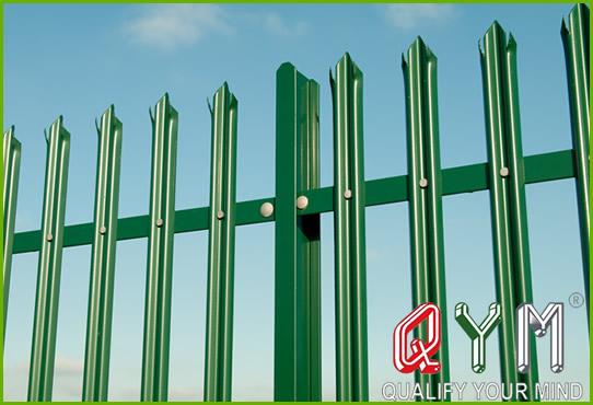 European palisade fence