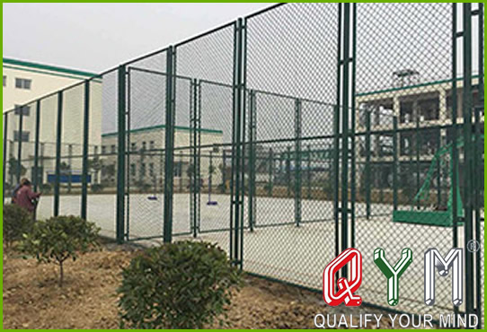 Sports ground chain link fence