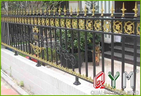 Metal buildings fence