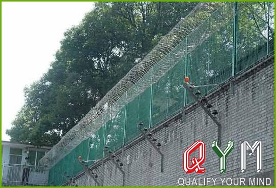Detention center fence