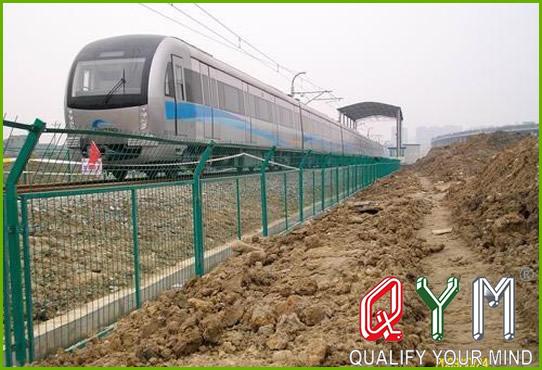 High speed rail fence