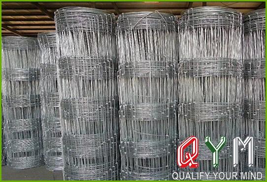 Field wire mesh cattle fence